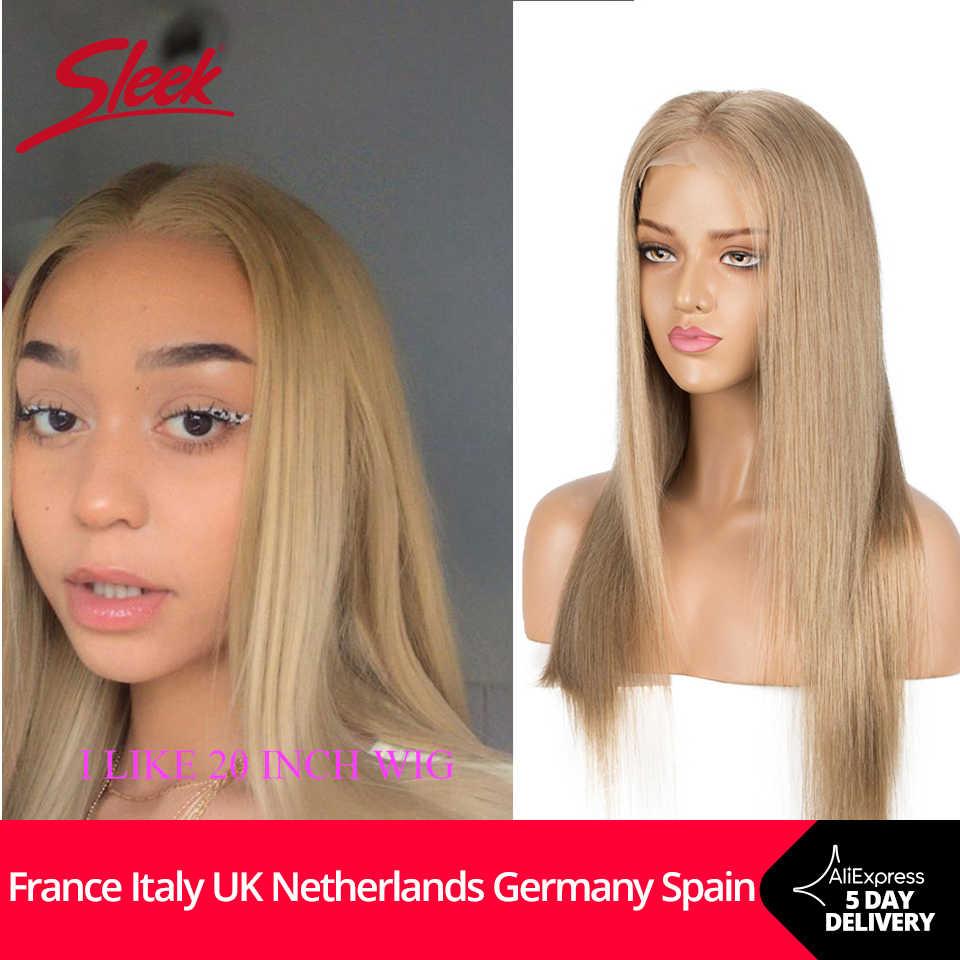 Schlanke Menschliche Haar Perücken 4X4 Spitze Verschluss Gold Blonde Spitze Front Brazilian Perücken Gerade Bob Orange Kurze Cosplay Perücke Für frauen