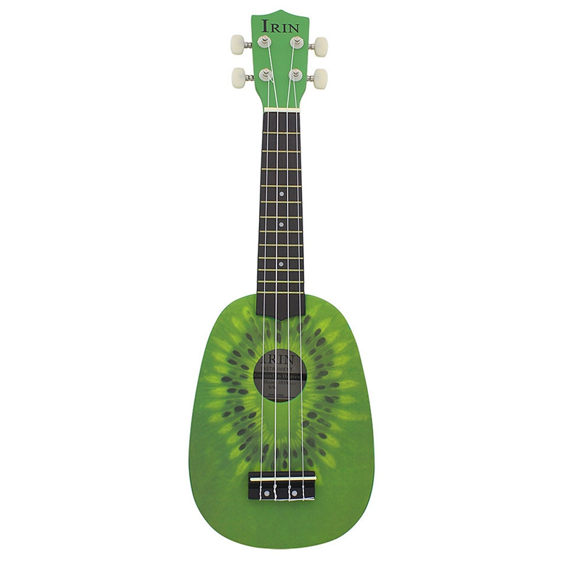 IRin 21in Cute Kiwi Shape Hand-Carved Small Piano Player Beginner Concert Ukulele Plucked Instrument
