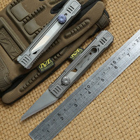 District 9 XS Original Paper cutter Cuttin knife Titanium Handle Olfa stainless steel blade Pruning outdoor knives EDC tools