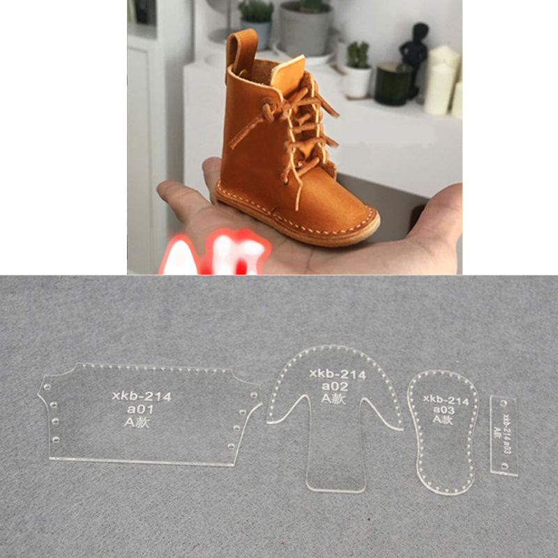 Small Shoes Mould Acrylic Keychain Stencil Set Boots Pendant Acrylic Template AXYD