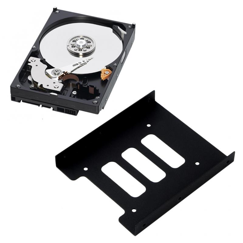 New 2.5 Inch SSD HDD To 3.5 Inch Metal Mounting Adapter Bracket Dock Hard Drive Holder For PC Hard Drive Enclosure Drop Shipping