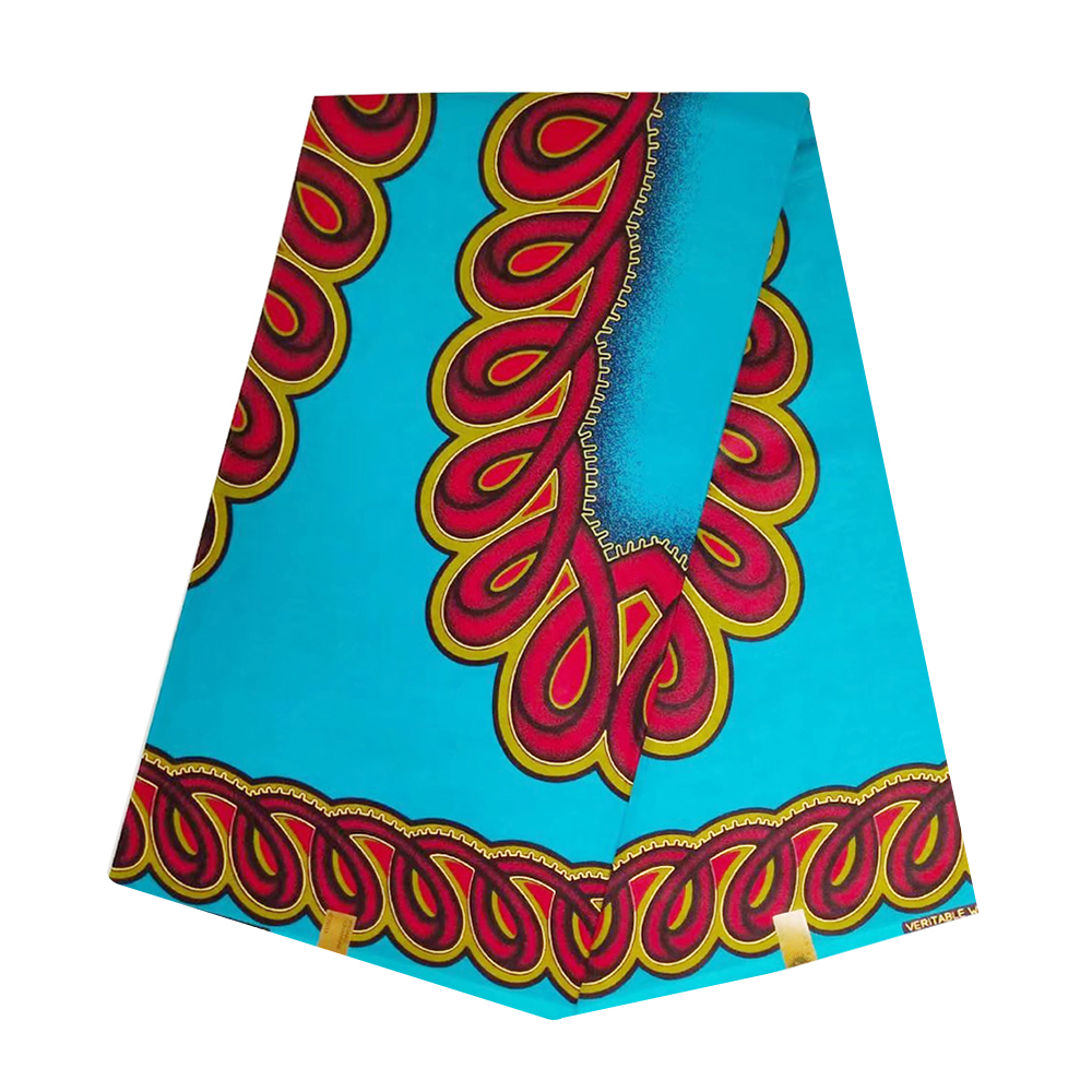 Blue African Wax Fabric High Quality Cotton Veritable Dutch Netherlands Print Nigerian Ankara Tulle Wax Pange Cloth For Women
