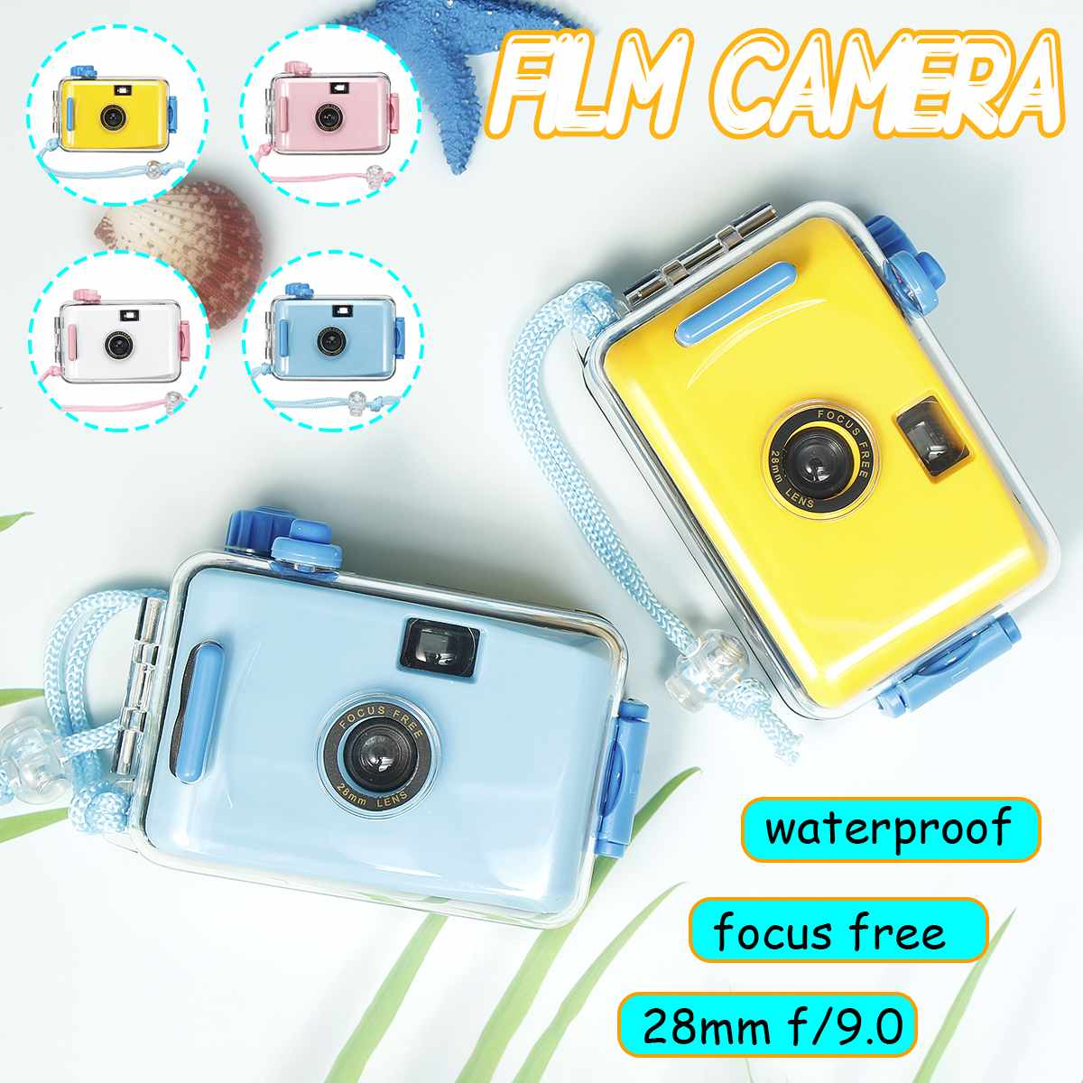 Childrens Camera Underwater Waterproof and Shockproof Film Camera Mini Cute Kid LOMO Camera 35mm Film With Housing Casing