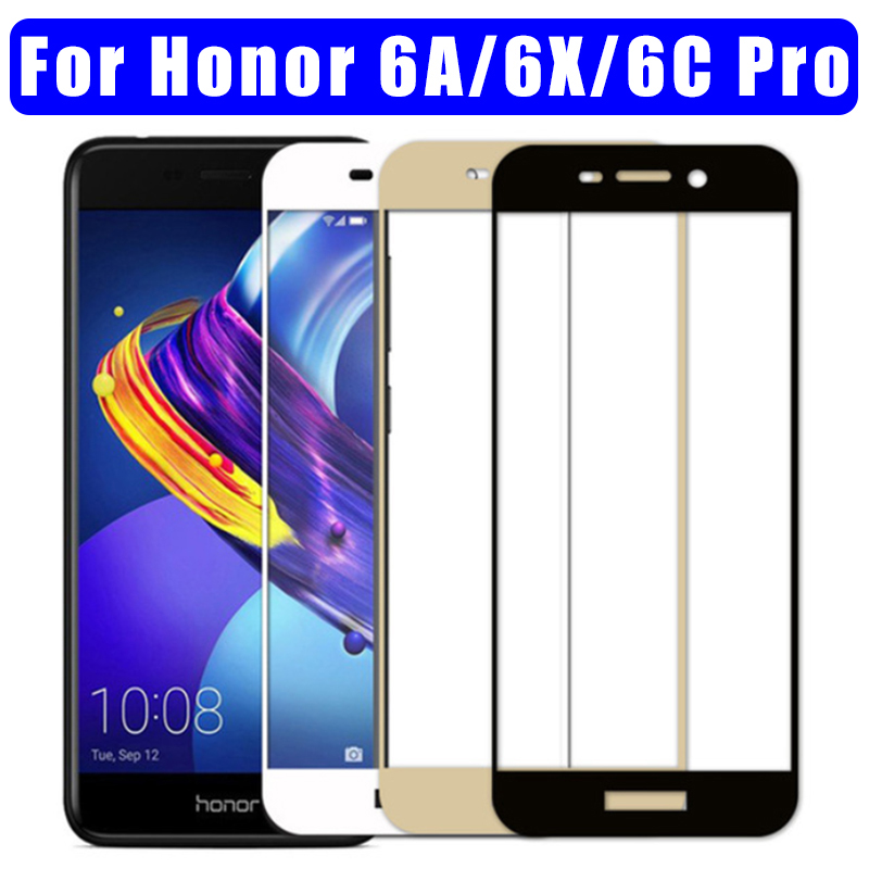 2Pcs Protective Glass For Huawei Honor 6C Pro Glass Screen Protector On Honor 6X 6C 6A Tempered Glass Hauwei Honor6C 6CPro Film