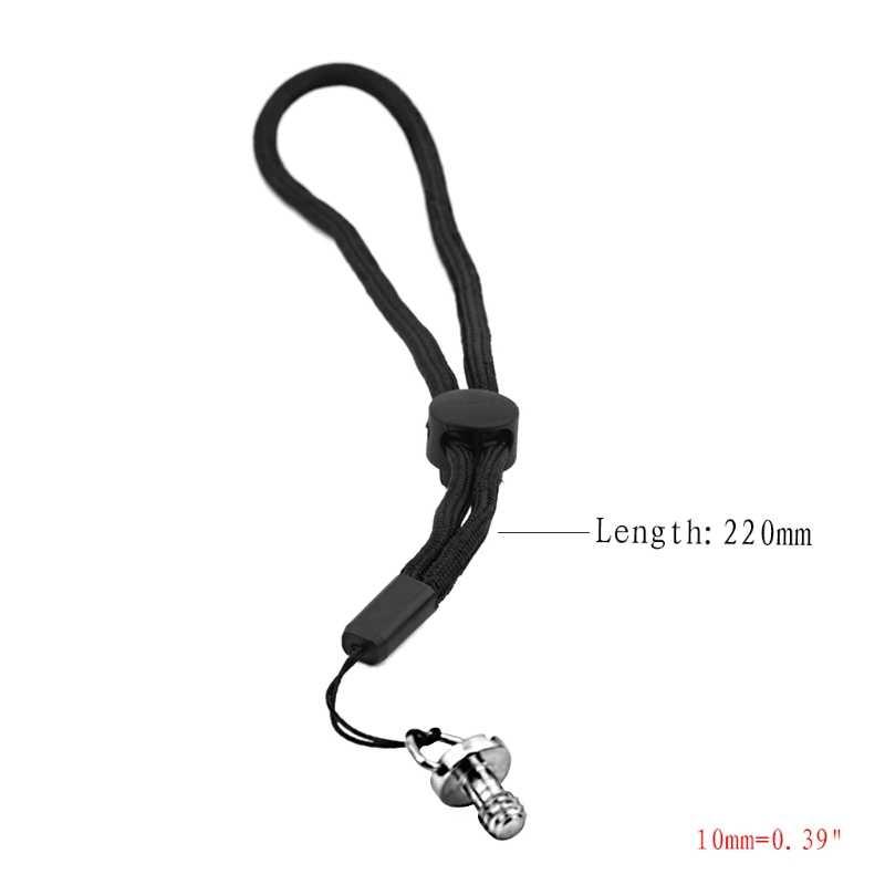 Correa de cámara de mano Universal seguro Sling pequeño cordón negro para OSMO Mobile 2 AXYF