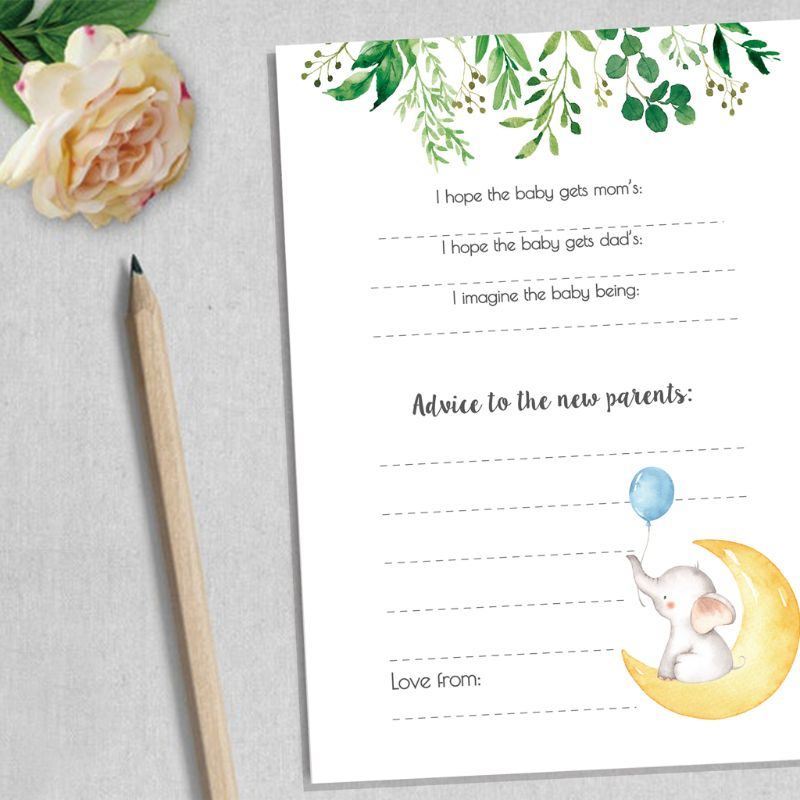 10 Baby Shower Prediction And Advice Cards Baby Shower Games Activities Supplies