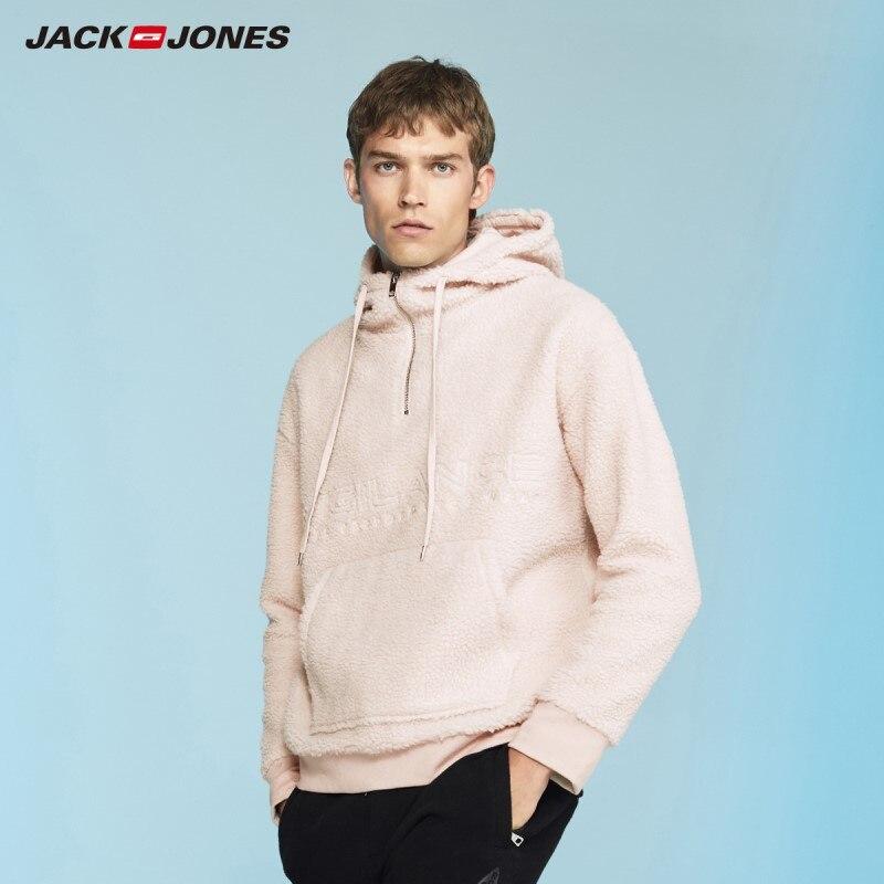 JackJones Men's Embroidered Hoodie Letter Print Casual Hooded Sweatshirt Top Menswear 218433504