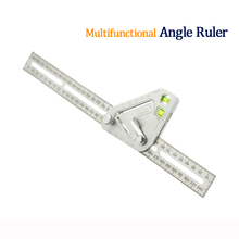 Multi-funktion Winkel lineal Holzbearbeitung Dreieck Ebene Edelstahl Herrscher Messung Werkzeug Winkel Herrscher Holz winkelmesser