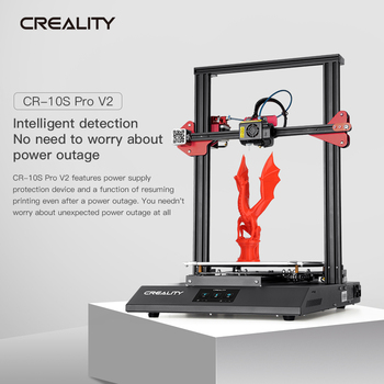 Creality 3D Aggiornamento CR-10S Pro V2 3D Stampante Bl Touch Livellamento con Riprendere Stampa Filamento Sensore
