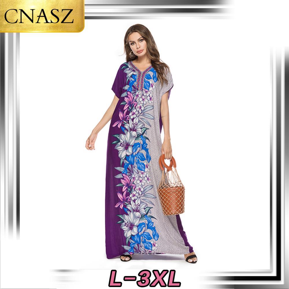 2019 Latest Muslim Dress Islamic Turkey Fashion Bohemian Print Dress Muslimah Dress Modesty Fashion Dubai Moroccan Kimono Abaya