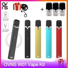オリジナル電子タバコovns W01 ポッド気化器 280mah 0.7 ミリリットルポッドカートリッジポッド吸うペン吸うキットvs minifitキット