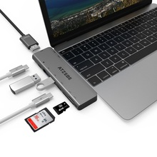 USB 3.1 Type-C Hub To HDMI Adapter 4K Thunderbolt 3 C with 3.0 TF SD Reader Slot PD for MacBook Pro/Air 2018/2019