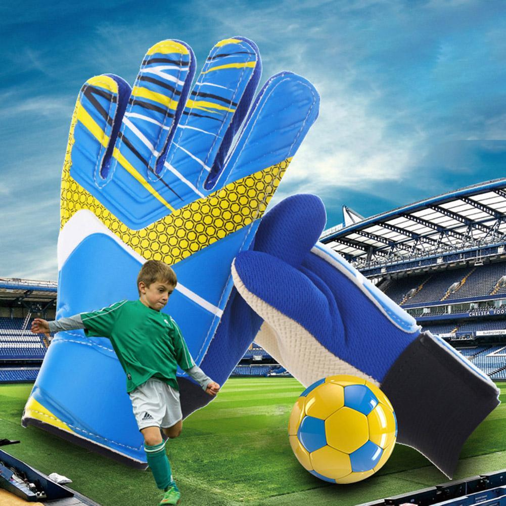 Kids Children Anti-slip Football Soccer Training Goalkeeper Protection Gloves Football Soccer Goalkeeper Protection Gloves