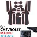 Противоскользящие резиновые чашки подушки двери паз коврик для Chevrolet Malibu 9th Gen MK9 2016 ~ 2019 2017 2018 аксессуары коврик для телефона