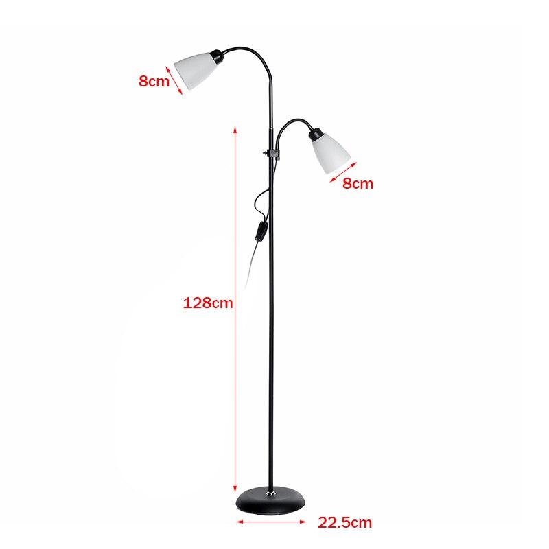 Lâmpada de assoalho moderna 2 luzes suporte