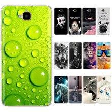 Caso para huawei honor 4c pro caso para huawei y6 pro 2015 TIT-L01 TIT-TL00 capa de silicone tpu caso telefone para honra 4c pro capa