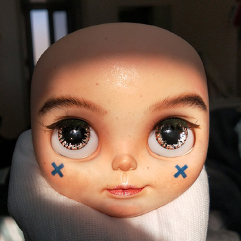 Blyth Doll Face Plate for diy your blyth makeup Including Back Plate Top Quality customization doll Nude blyth doll 12