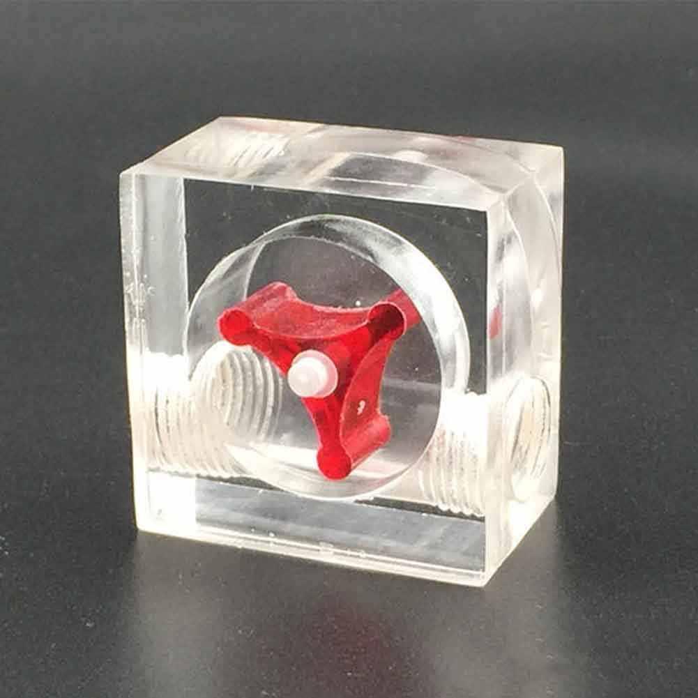 2 voies G1/4 fil Durable bureau poli Surface débitmètre indicateur acrylique facile installer la maison pour PC refroidissement par eau 3 turbine