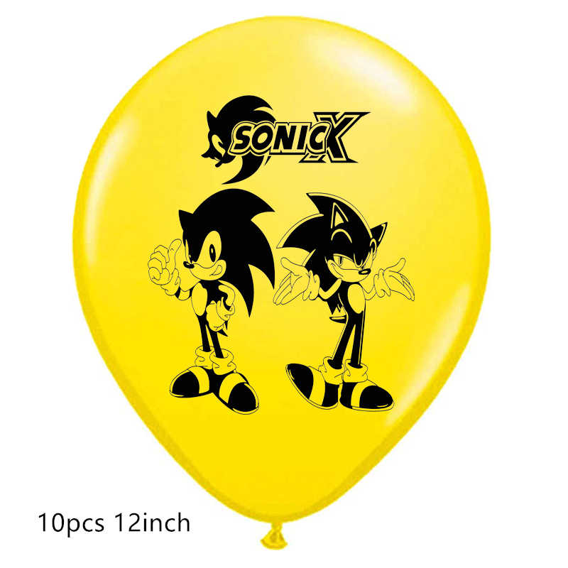 Sonic Latex ballonnen de Egel folie Ballons Super Hero Sega Game Fans Anime thema party Brithday Decoraties jongen kinderen speelgoed