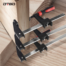 DTBD Ratchet Heavy Duty F-Clamp Bar Clip Clamp For Woodworking High Strength Wood Clamping Carpenter DIY Hardware Hand Tool