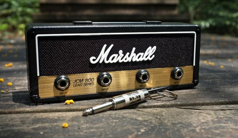 1PCS Marshall Jack Key Holder Rock Electric Guitar Speaker Key Hanging Key Hook Storage Keychain Vintage JCM800 BULLET
