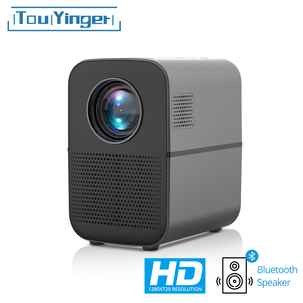 TouYinger HD LED projector T7 Bluetooth, 1280x720 support Full HD video beamer for Home Cinema, 3500 lumens movie Media Player