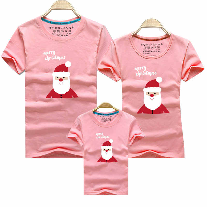 2020 Babbo natale Papà Mamma di Corrispondenza T-Shirt Papà Mamma e Me I Vestiti Madre Figlia del Padre Figlio Abiti Sguardo Famiglia Di Natale