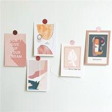 Ретро художественные абстрактные открытки иллюстрация маленький