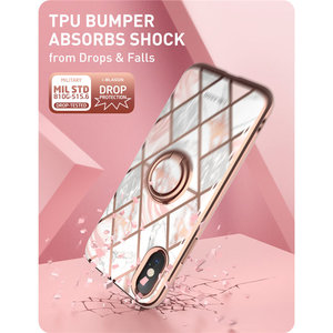 Image 5 - For iphone Xs Max Case i Blason Cosmo Snap Slim Marble Cover with Built in Rotatable Ring Holder Kickstand Support Car Mount