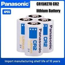 4pc panasonic cr2 dispositivo fotográfico câmera digital led lanterna bateria cr15h270 dlcr2 elcr2 3v bateria de lítio