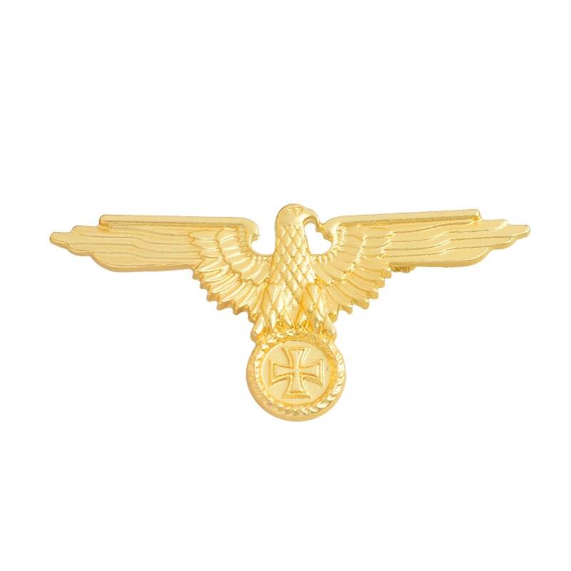 Немецкая военно-морская армия, военно-воздушные силы, булавка, танк, Воздушный самолет, линкор, эмалированные броши для одежды, сумки, орла, нагрудные значки, Винтажные Ювелирные изделия, подарок - Окраска металла: gold Eagle