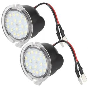1 Pair White LED Bright Car Rear View Mirror Puddle Lights Fit for Ford Mustang Mondeo Mk5 Edge Explorer Everest F150 Range