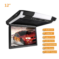 1080P 12.1 / 10.4 TFT LCD Car Monitor Roof Mount Car Monitor with MP5 Player USB SD Car Ceiling Monitor