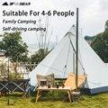 3F UL GEAR пирамидальная палатка на 4-6 человек популярная палатка для кемпинга на открытом воздухе большая ветрозащитная семейная палатка Водо...