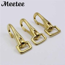 2Pcs Solid Brass Bag Hook Lobster Clasps Straping Metal Buckle Shoulder Belt Swivel Snap Hook Fastener Key Chain Ring KY2038 стоимость