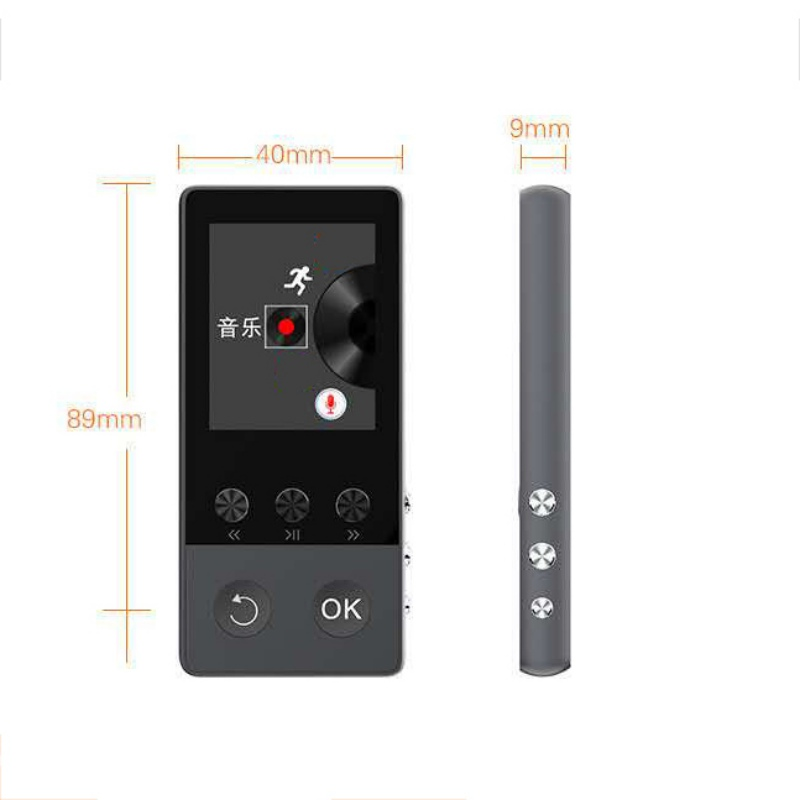 HiFi Audio Player Recorder FM Radio Sports Bluetooth 1.8 Inch External Student MP3/MP4 Video Player image