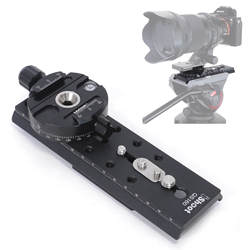 Quick Release Plate Adapter Convertor for Connect Arca-Swiss Quick Release Plate to Tripod Fluid Head of Manfrotto, Sachtler