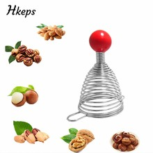 Creative Metal Spring Nutcracker Open Walnut Artifact Stainless Steel Nut Crackers Open Professional Walnut Tools Kitchen Gadget(China)