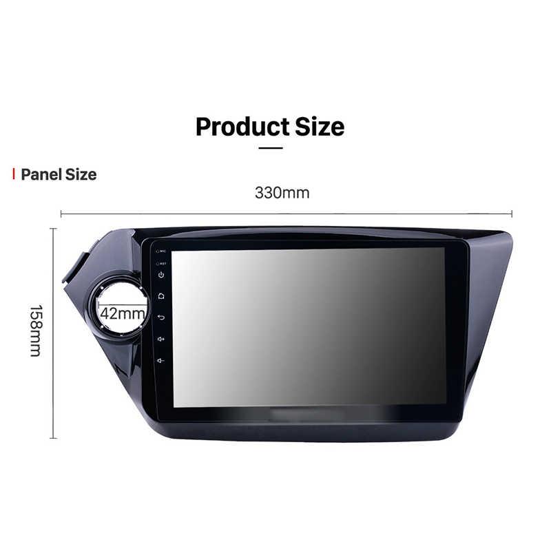9 ''2 DIN Android 9.1 2G + 32G Mobil Radio Multimedia Video Player 2din Gps Navigasi untuk KIA RIO 3 4 2011-2018 Cermin LINK Wifi Bt