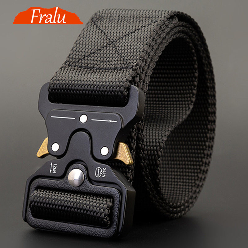Canvas Belt Hom Army-Ceinture Military Outdoor Big-Size Men's 125-140long title=
