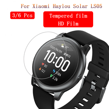 3/6 pcs Anti Scratch HD Tempered Glass For XiaoMi Haylou Solar LS05 Watch Screen Protector Explosion-proof Protective Film Guard protective arm clear screen film guard protector for sony xperia z2 transparent 6 pcs