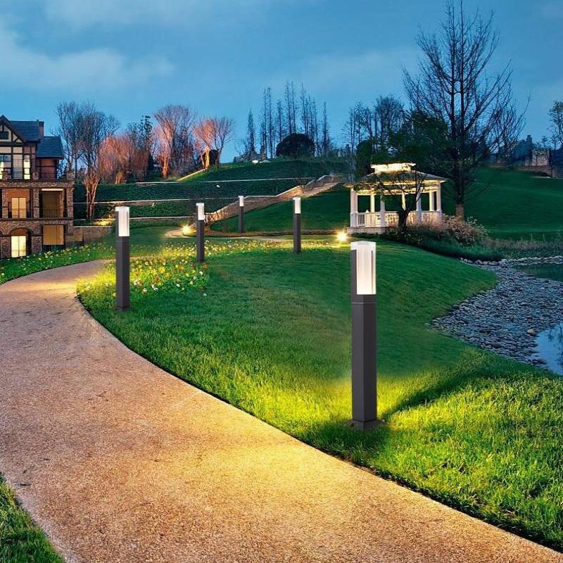 New Waterproof LED Garden Lawn Lamp Simple Modern Outdoor Aisle Courtyard Villa Landscape Lamppost Led Garden Light