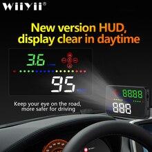 العالمي A3 السيارات غس هود رؤساء يصل عرض مرآة سيارة رقمية اكسسوارات الالكترونيات الرقمية عداد السرعة درجة حرارة الماء إنذار