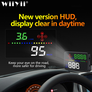 Image 1 - Universal A3 Auto GPS HUD Heads Up Display digital Car Accessories  Electronics  Digital Speedometer Water Temperature Alarm
