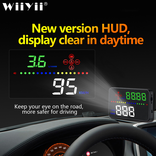 Universal A3 Auto GPS HUD Heads Up Display digital Car Accessories  Electronics  Digital Speedometer Water Temperature Alarm