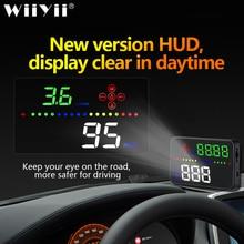 Universal A3 Auto GPS HUD Heads Up Display digitaler Auto Zubehör Elektronik Digitalen Tachometer Wasser Temperatur Alarm