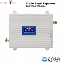 75dB רווח 2G 3G 4G פס לשלושה בוסטרים סלולריים GSM 900 + DCS/LTE 1800 + FDD LTE 2600 תא טלפון נייד אות משחזר מגבר