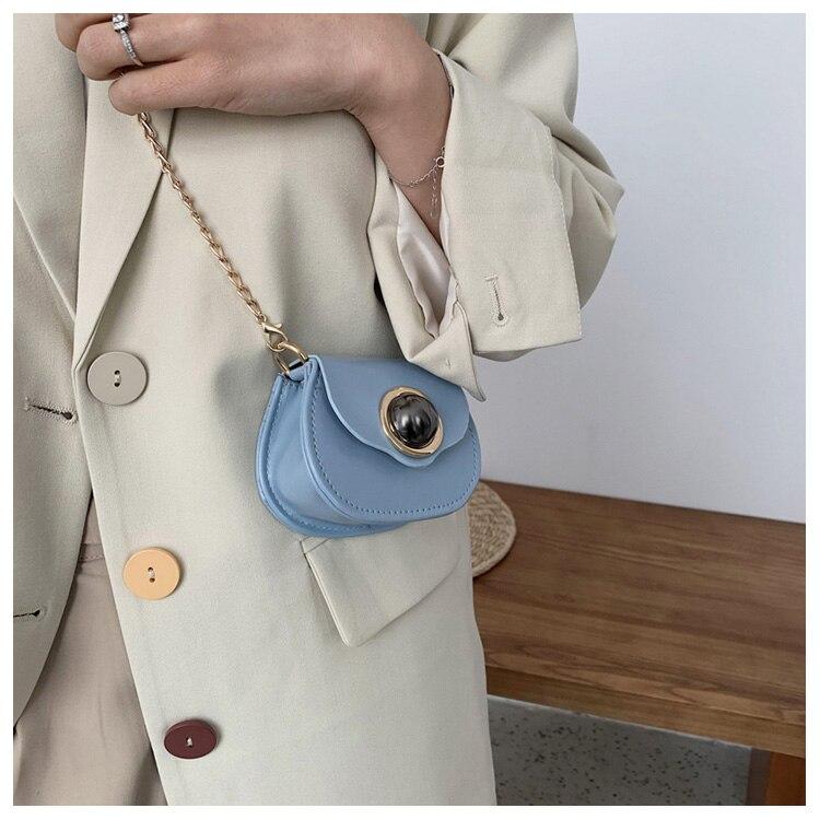 Mini Fashion Pu Soild Color Saddle Bags For Women Small Bag Leather Handbags And Lady Shoulder Bags Cross Body Bag (13)