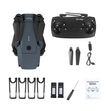 2019 DJ-1 2.4Ghz WIFI FPV Foldable RC Drone With Wide Angle 2.0MP HD Camera Altitude Hold Headless Mode Aircraft with 2 Battery f196 rc drone with 2 0mp hd camera optical flow localization wi fi 1100mah battery foldable quadcopter headless mode aircraft