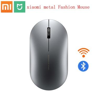2020 Xiaomi Bluetooth mouse Mi fashion Wireless Mouse Game Mouses 1000dpi 2.4GHz WiFi link Optical Mouse Metal Portable Mouse